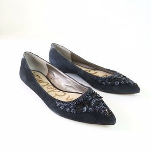 Sam Edelman Black Cindi Beaded Ballet Flat 8.5 M